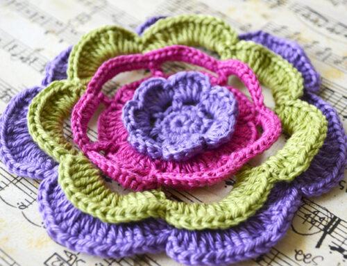 COLOFRUL CROCHET FLOWER – FREE PATTERN